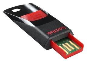 SanDisk Cruzer Edge 64GB USB-Stick schwarz / rot