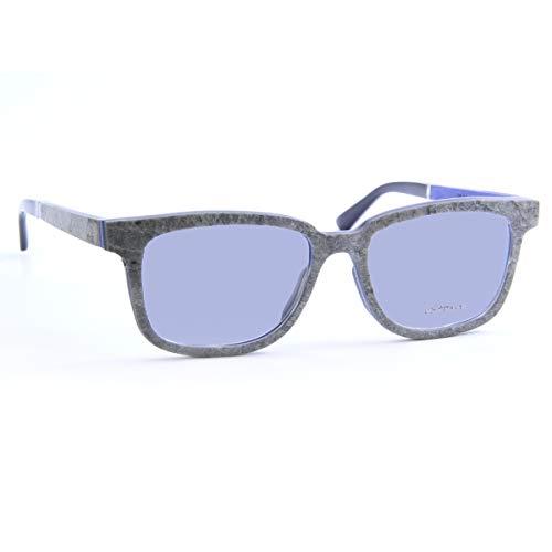 iSTONE Sonnenbrille aus Holz/Echtholzbrille/Holzbrille mit Steinauflage - Modell 04 grauer Granit in Indigo Blau - für Damen und Herren - UV400 = 100% UV-Schutz - Brillenmanufaktur aus Deutschland