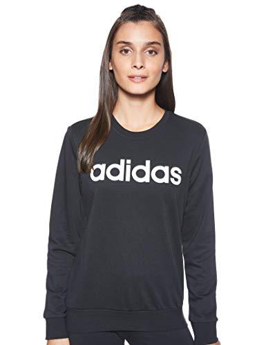adidas W E Lin Sweat Sudadera, Mujer, Negro (Black/White), XS