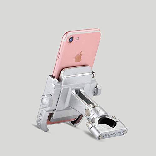 """Extrbici - Portacellulare da moto, universale, in lega di alluminio, rotazione a 360°, staffa di montaggio, per cellulari da 4""""-6,8"""""""