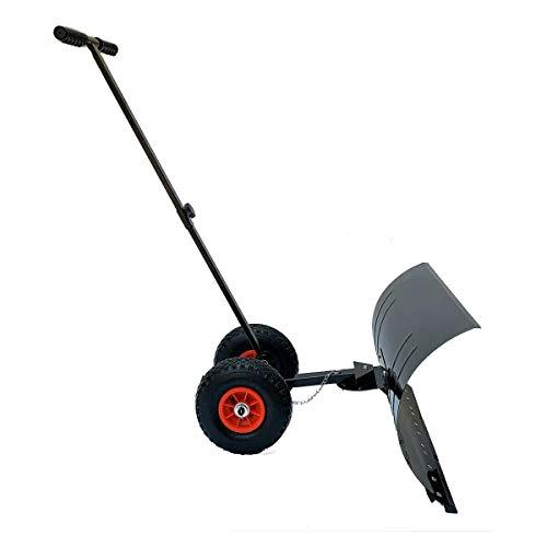 CYJZWOH Snow Shovel, Adjustable Wheeled Snow Pusher Heavy Duty Rolling...