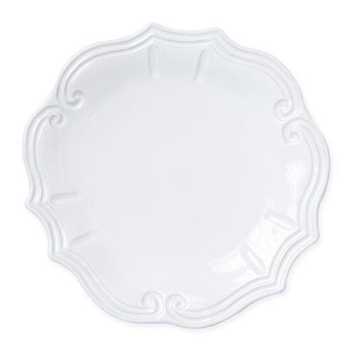 Vietri Incanto Stone White Baroque Dinner Plate
