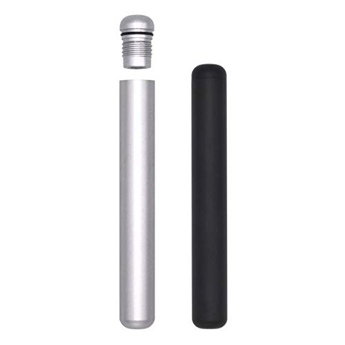 2-Pack Premium Travel Tube | Aluminum Metal Airtight Smell Proof | Stylish Everyday Carry EDC from LUXE HOLDING CO. (Black & Silver)