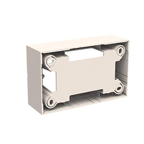 Kit de estación de trabajo para montaje en superficie de 3 columnas, 23,5 x 17,6 x 5,8 centímetros, color blanco (referencia: T1110 BL)