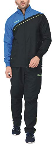 Fallyn Men's Polyester Regular Fit Track Suit Trak and Track Suit for Men Suits | Sports Track Sport Suits for Man | Stylish Trekking Suit | Running Suit Warm for Body (Black, Medium)