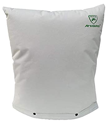 ArtiGifts Insulated Pouch - Backflow Preventer Insulation Cover for Winter Freeze Protection, Pale Khaki, 17''W x 21''H - Measure Before Purchase