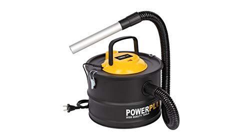 POWER plus Aspirateur de Cendres, collecteur de poussière, adapté pour Four, cheminée 1000 W 15 litres, Noir 0