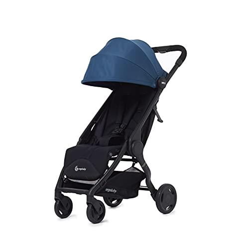 ERGObaby METROEU7 Metro Kinderwagen Buggy mit Liegefunktion Modell 2020, ab 6 Monate bis 22kg, Kinder-Buggy Zusammenklappbar Klein Leicht Kompakt, blau, 6.3 kg