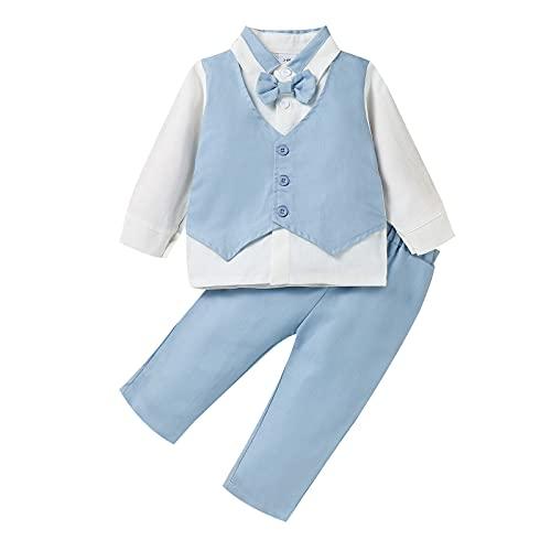 YWLINK 2 Piezas Trajes Caballero De BebéS NiñOs Manga Larga Camisa + Pantalones NiñO Caballeros Bautismo...