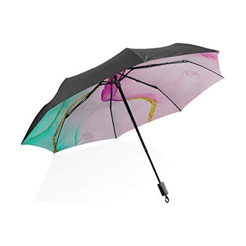Sonnenschirm für Kinder Geschichte und Geheimnisse der Erde Tragbarer kompakter zusammenklappbarer Regenschirm Anti-UV-Schutz Winddicht Outdoor Travel Frauen Regenschirm Inverted Golf
