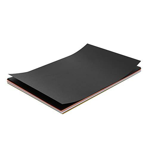 50 piezas de papel de calco, papel transparente, papel de tarjeta de color para dibujar, rastrear, propósitos universales claros, 15x10cm