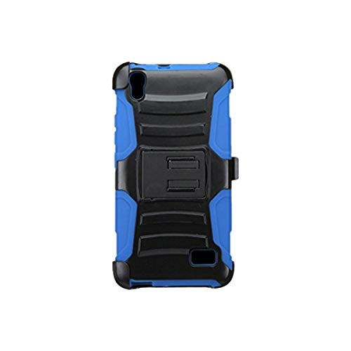 Asmyna Phone Case for HUAWEI H891L Pronto LTE - Retail Packaging - Black/Blue