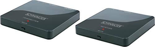 SCHWAIGER -HDFS100 511- HDMI-Funk-Set | ein Receiver auf zwei Fernseher | 1080p HD Auflösung | 1x Sender, 1x Empfänger | full HD, wireless | schwarz