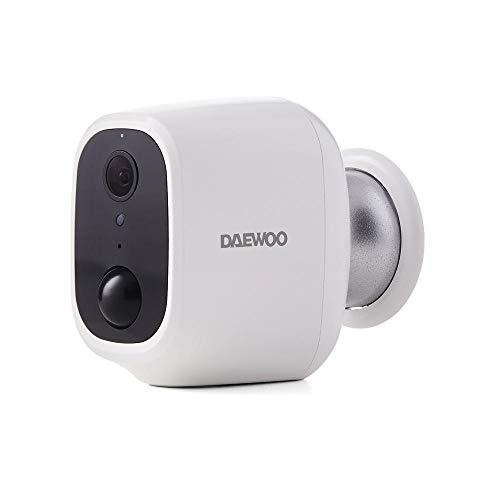 Daewoo W501 W501 Full HD, Bewegungserkennung, Nachtsicht, bidirektionales Audiosystem, kompatibel mit Amazon Alexa, Weiß