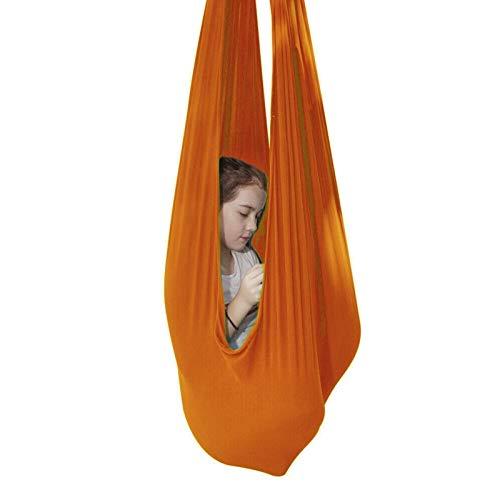 ZCXBHD Cuddle Hammock - Columpio terapéutico interior para niños con autismo, ADHS grande para integración sensorial (color: naranja, tamaño: 100 x 280 cm/39 x 110 pulgadas)