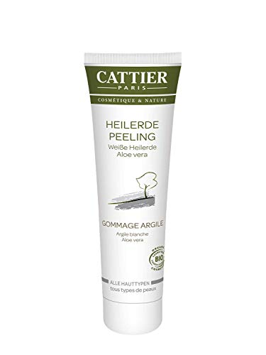 Cattier Heilerde Peeling, mit weißer Heilerde und Aloe Vera, zertifizierte Naturkosmetik, 100 ml