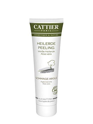 Cattier Weiße Heilerde Peeling für alle Hauttypen - verfeinert die Hautstruktur (1 x 100 ml)