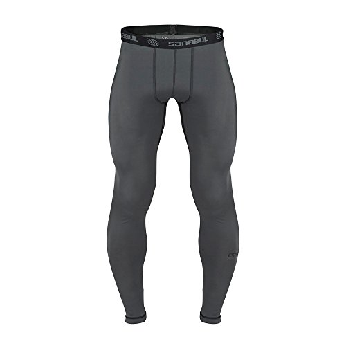 Sanabul Essential Mens Tights (Medium, Steel Grey)