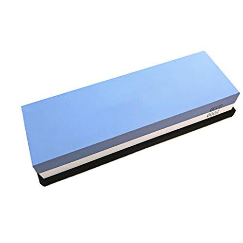 Kiaya Pedra de afiar Pedra de afiar com base de silicone antiderrapante Dual Grit 2000/5000 Waterstone afiador de faca compatible withpedra de amolar