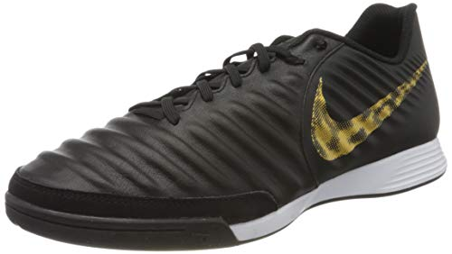 Nike Herren LegendX 7 Academy IC Fußballschuhe, Mehrfarbig (Black/MTLC Vivid Gold 077), 42.5 EU