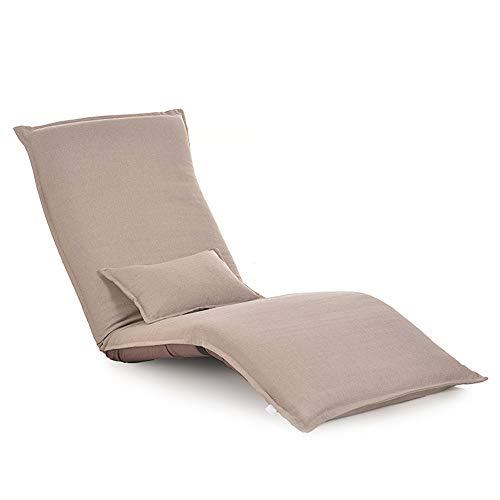 AiHerb.LO JL HX Canapé Tissu Paresseux De Style Japonais Créatif Paresseux Simple Tatami Longue Chaise Pliante Fenêtre Lavable Loisirs Dos A+ (Couleur : C)