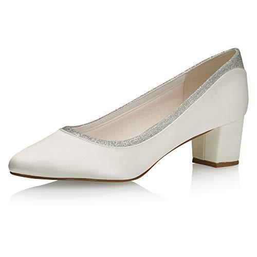Rainbow Club Zapatos de novia Preslie - Zapatos de tacón para mujer,...