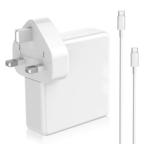 Eteng 87W USB C Laptop Charger With 1M Typ-c Charging Cable 87W/ 61W/ 30W Fast Charging, Compatible With Laptop, Tablet, Phone And More USB C Devices, White