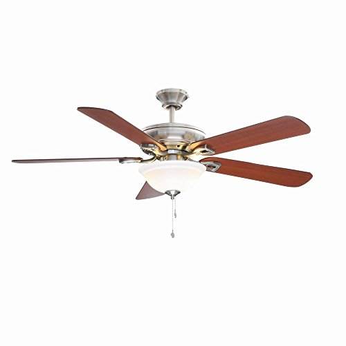 Rothley 52 in. Indoor Brushed Nickel Ceiling Fan with...