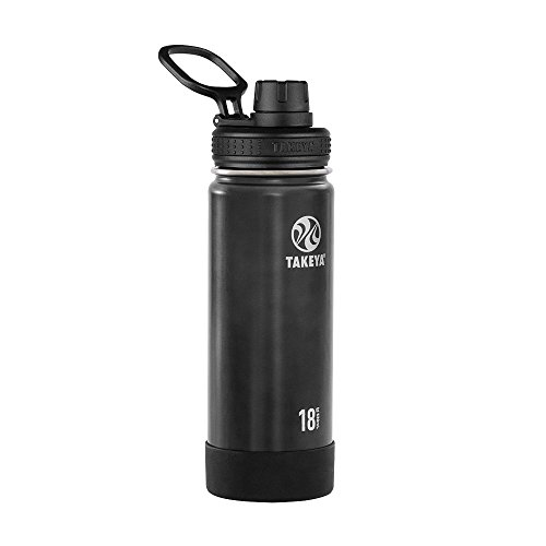 Takeya 18oz Actives Insulated Stainless Steel Water Bottle with Spout Lid - Slate