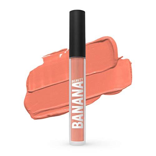 Banana Beauty Peach Me (3 ml) – Semi Matte Liquid Lipstick – kussechter Lippenstift matt für volle Lippen – wunderschöner Lipgloss matt – zarter Nude Rosa-Ton