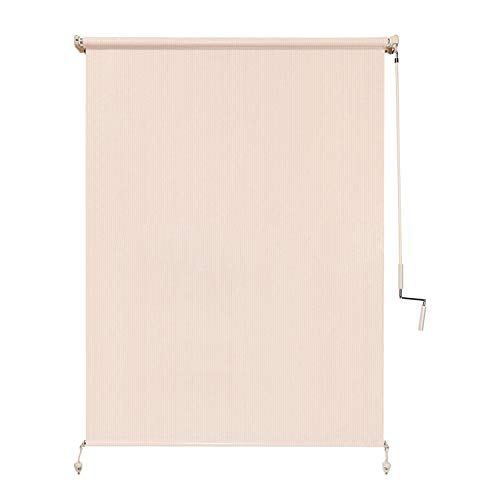 Coolaroo 462161 Wand-Operated Roller Shade, (4' x 8'), Pebble