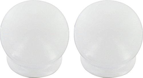 ATELIERS 28 Embout Pomme Blanc - Diamètre 35 mm - Vendu par 2