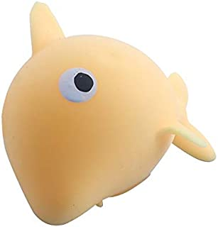 Glow Push Bubble Fidget Sensory Luminou Stress Relief Dolphins Toy Foaming Slowly Rebound Anti-stress Toy Squeeze Toy For ...
