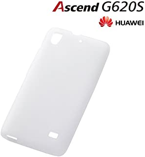 レイ・アウト HUAWEI Ascend G620S ケース シルキータッチ・シリコンジャケット ホワイト(半透明) RT-AG620SC1/W