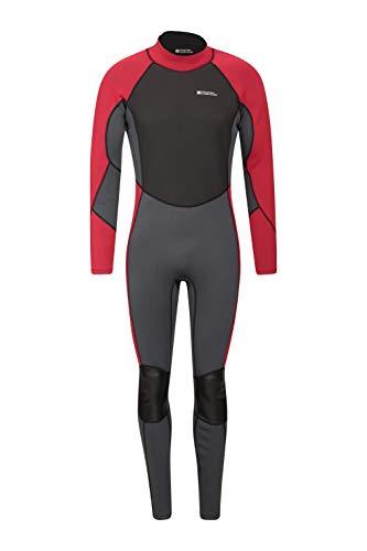 Mountain Warehouse Traje de Neopreno para Hombre -Cuerpo: 2.5mm, Ajuste Entallado, Traje de Neopreno con Costuras Planas, Cierre Ajustable en el Cuello -para Hacer Surf Gris X-Small/Small