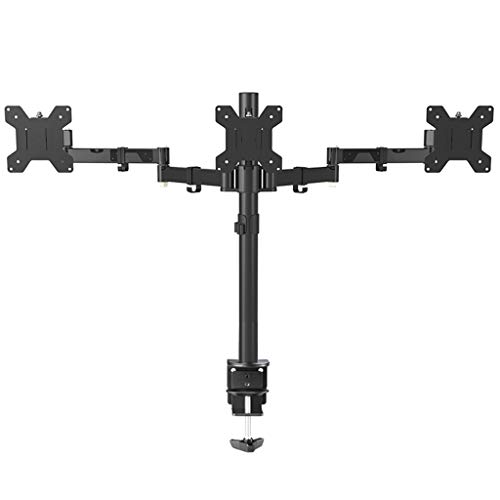 Drie Arm Monitor Stand, in hoogte verstelbare Rotary Pitch Monitorhoekregeling Desk Mount - Past 17-24