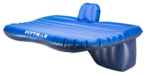 Pittman Outdoors - PPI-TRK_MAT AirBedz Rear Seat Air Mattress for Trucks and SUVs with Portable DC Air Pump, Blue