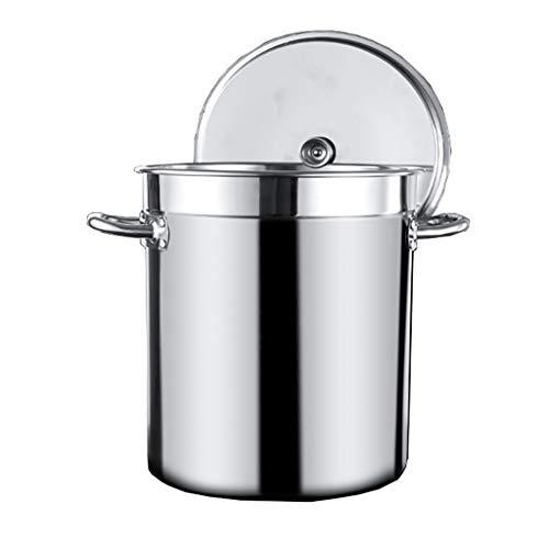40 litros OIla Grande, Comercial/Doméstico 304 Sopa De Acero Inoxidable/Olla De Cocción Con Tapa Para Cocina De Gas/Cocina De Inducción (15-80L) (Size : 40L)