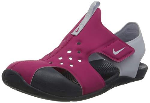 Nike Sunray Protect 2 (PS), Scarpe da Ginnastica, Rosa (Fireberry/Football Grey-Thunder Blue), 29.5 EU