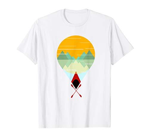 Kanu Kanufahrer Sonne und Landschaft T-Shirt Geschenk T-Shirt