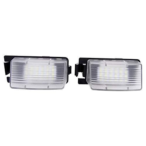 Luces de matrícula de coche Compatible con Infiniti Nissan Skyline V36 G35 G37 350Z Coche LED Licatronal Luces Lámpara de placa Lámpara de placa compatible con Nissan Tiida Livina Versa Universal