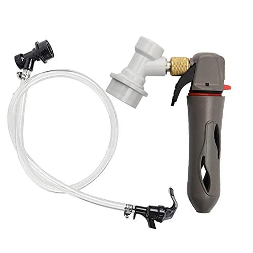 JINGERL Kit de Gas de Gas de Gas de Gas de Gas de CO2 portátil Reutilizable con 3/16'Conjunto de líneas de Cerveza de Bloqueo de Bolas líquidas (Color : 1set)