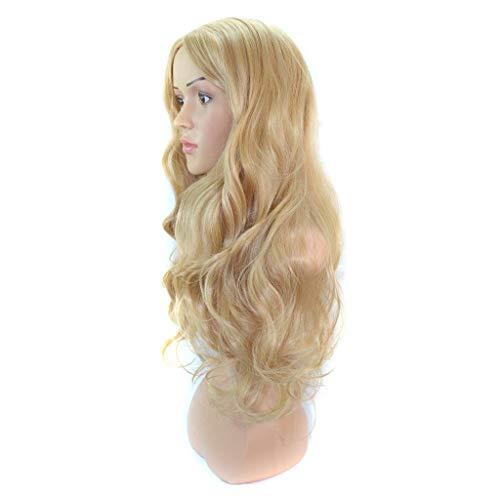 Lifelike Europe and The United States Fashion Ladies Perruque de Cheveux Longs Convient à Toutes Les Femmes