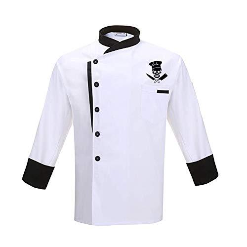 Bycloth Unisex Kochjacke Hotel/Küchen Langarm Arbeitskleidung Uniform Chef Mantel,XXL