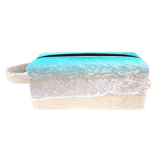 Trousse de Maquillage - Pochette Maquillage de Voyage Petit Trousse de Toilette Imperméable pour Femme étoile de mer de Plage 18.5x7.5x13cm