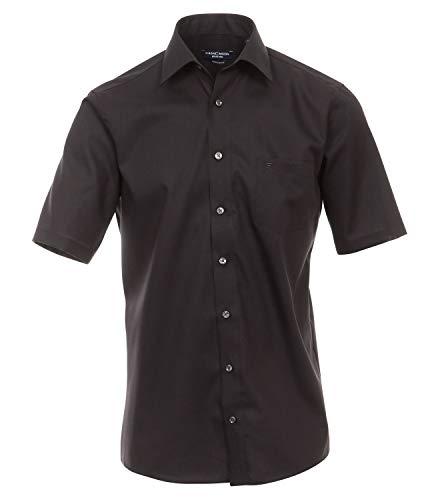 Michaelax-Fashion-Trade Chemise formelle à manches courtes pour homme - Noir - 47