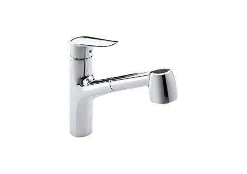 Roca Logica-N - grifo monomando para cocina con caño extraible giratorio y función ducha para aclarado . Griferías hidrosanitarias Monomando. Ref. A5A8727C00