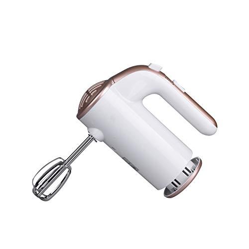 LORIEL Mezclador de Mano eléctrico portátil - Mezclador de Mano eléctrico, licuadora de Palo de 5 velocidades con Dos bestreros y Ganchos de Masa/para la Leche de la Leche/Blanco