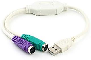 Logicstring Adaptador PS2 a USB para Teclado y Mouse con Interfaz PS2