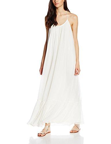 Vila Clothes Damen VILALA Maxi Dress Kleid, Elfenbein (Pristine), 36 (Herstellergröße: S)